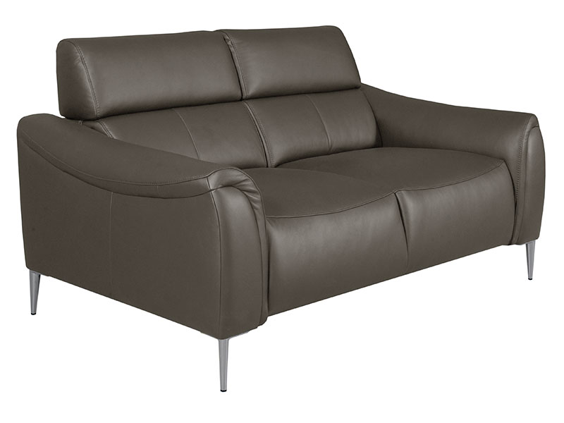Des Loveseat Milano - Dollaro Anthracite - Full grain leather sofa - Online store Smart Furniture Mississauga