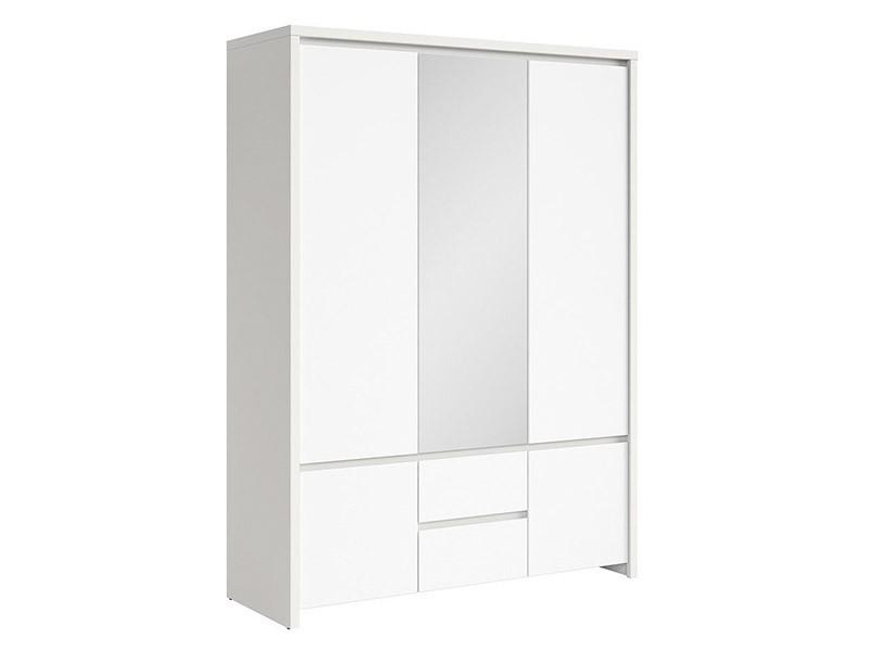 Kaspian White 5 Door Wardrobe - Contemporary furniture collection