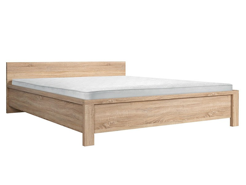 Kaspian Oak Sonoma Queen Bed  - Contemporary furniture collection