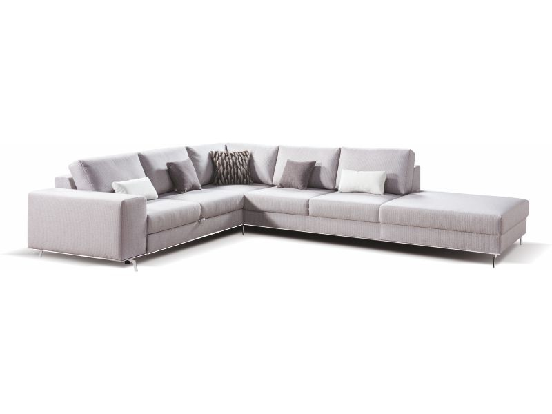 Libro Sectional Chrome PK-2F-E-2BK-HO110 - Sectional sofa with bed and storage.