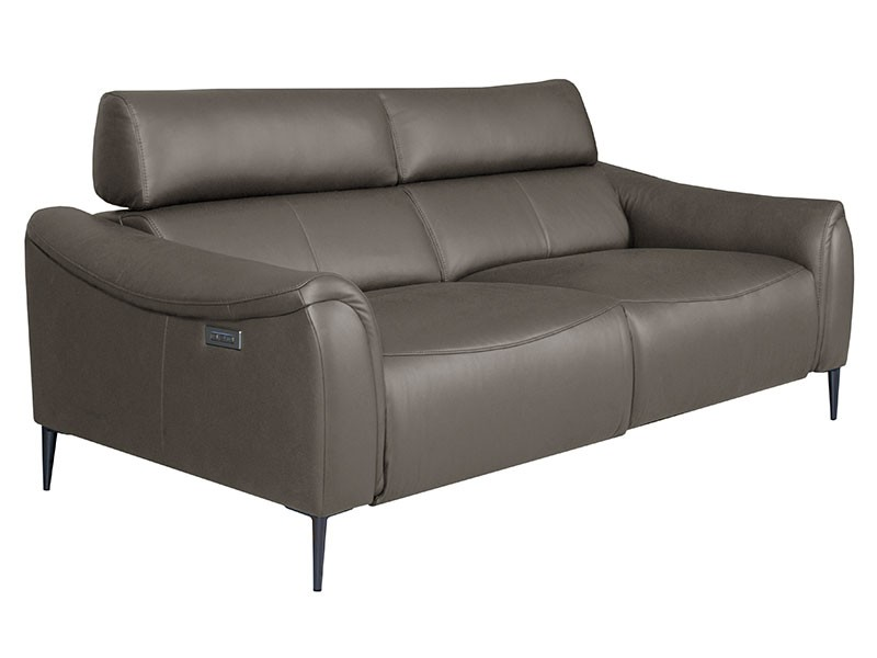 Des Sofa Milano 3TVE - Dollaro Anthracite - Double power recliner