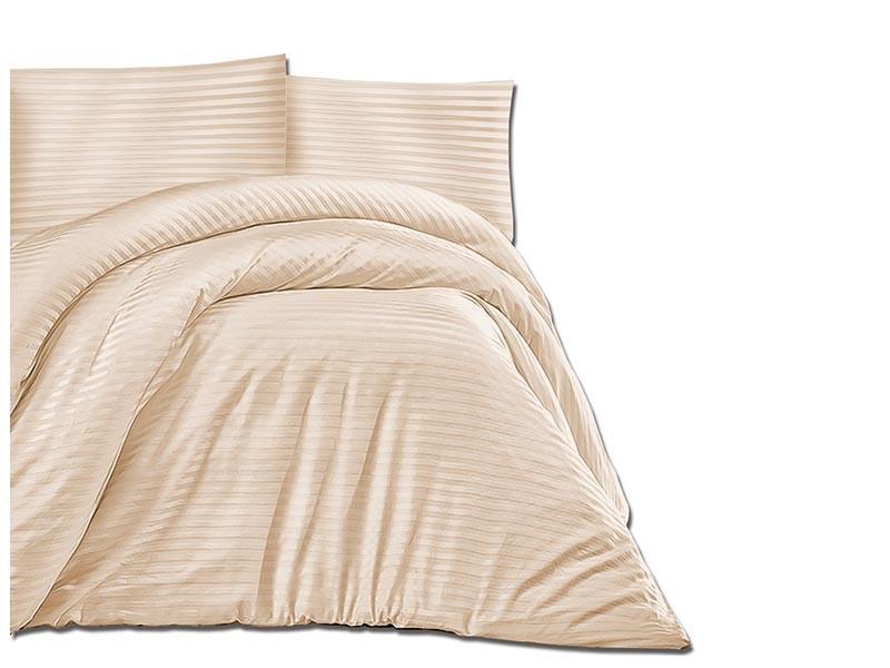 Darymex Cotton Duvet Cover Set - Cizgili Capuccino - Europen made