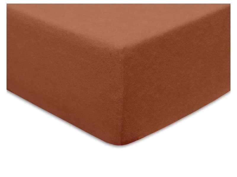 Darymex Terry Fitted Bed Sheet - Brown - Europen made