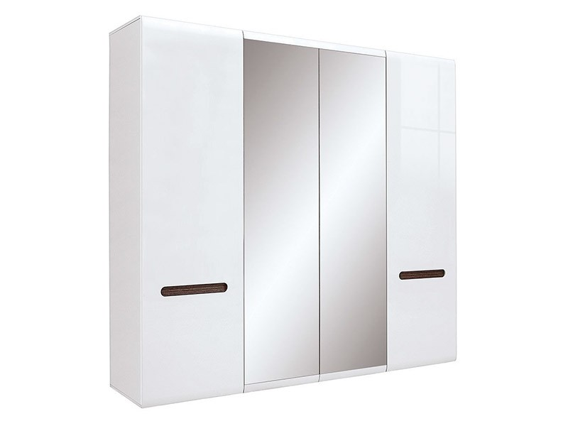 Azteca Trio 4 Door Wardrobe - Large, glossy white armoire