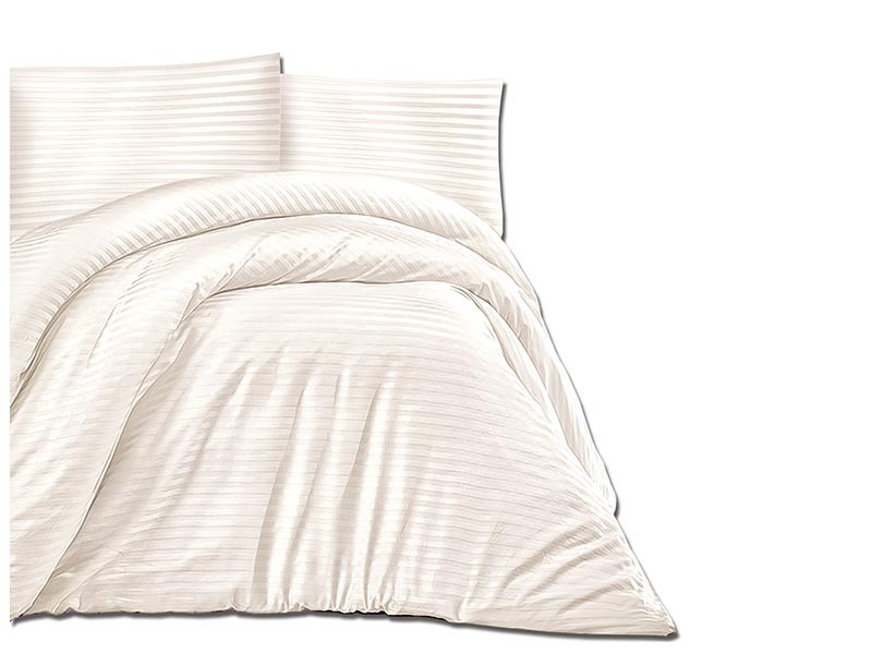 Darymex Cotton Duvet Cover Set - Cizgili Cream - Europen made