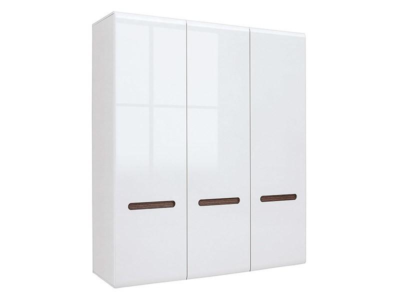 Azteca Trio 3 Door Wardrobe - Glossy white wardrobe