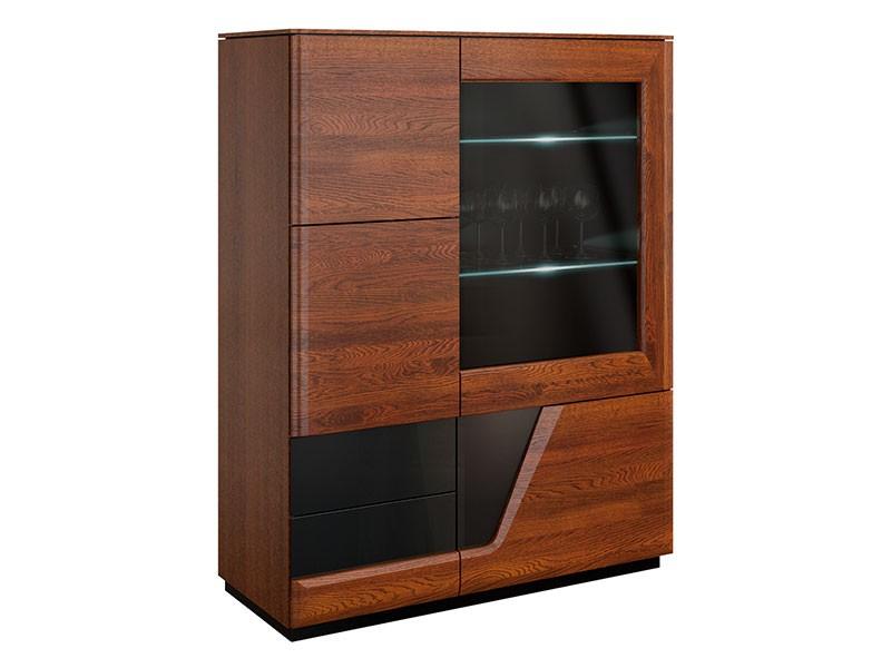 Mebin Smart Bar Cabinet Right Antique Walnut - Furniture of the highest quality