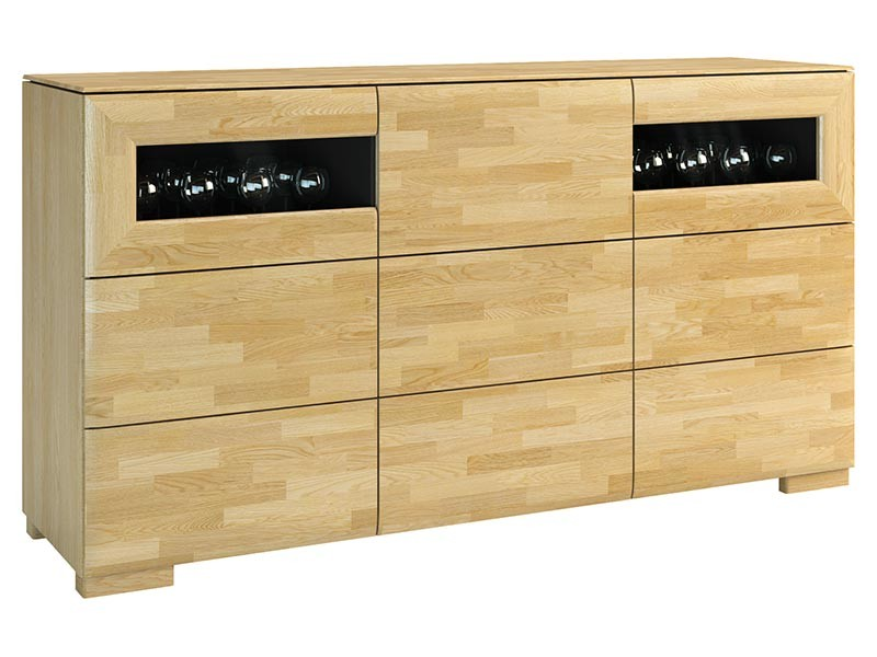 Mebin Rossano Sideboard Oak Bianco - High-quality European furniture
