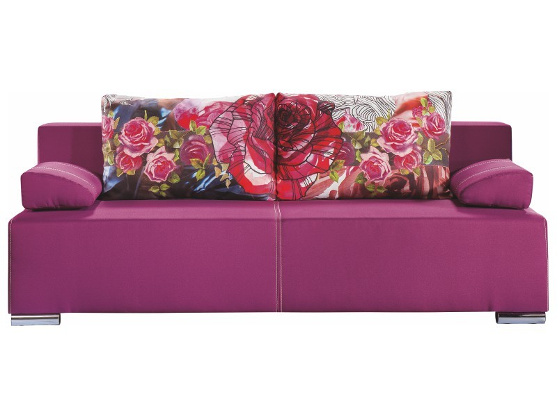 Libro Sofa Play Lux Rose 3FBA - Sofa with bed and storage