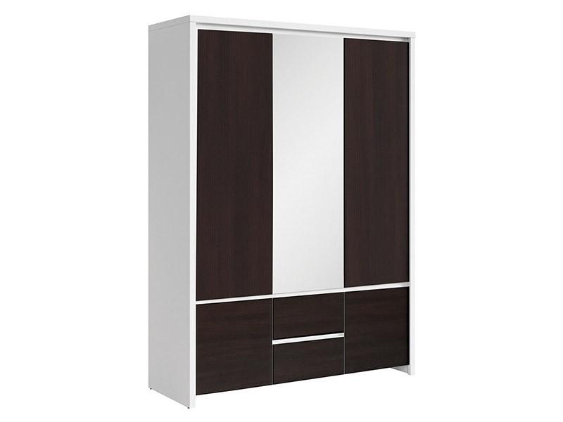Kaspian White + Wenge 5 Door Wardrobe - Contemporary furniture collection