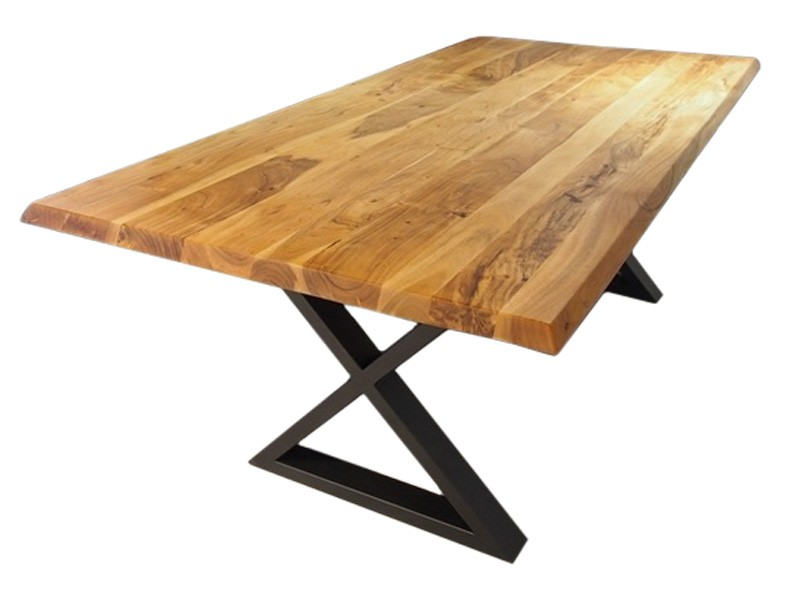 Corcoran Table ZEN-19-A + ZL-BLX - Acacia dining table