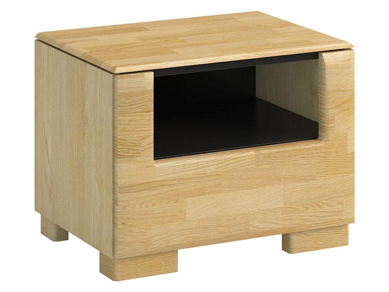 Mebin Rossano Nightstand Oak Bianco - High-quality European furniture