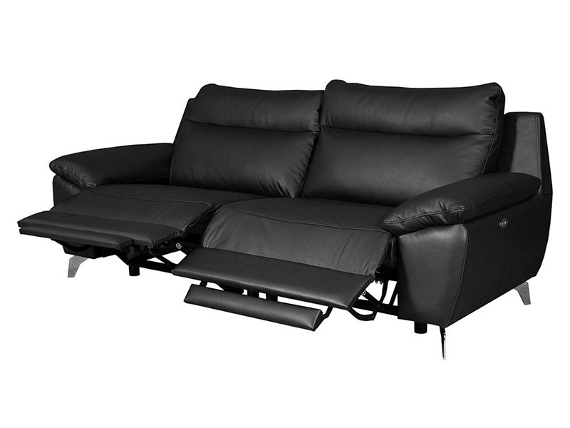 Des Sofa Perle 2,5TVE - Dollaro Nero - Double power recliner