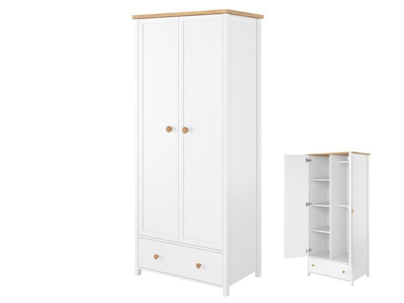 Lenart Wardrobe Story SO-12 - 2-door, 1-drawer, 2- rods wardrobe