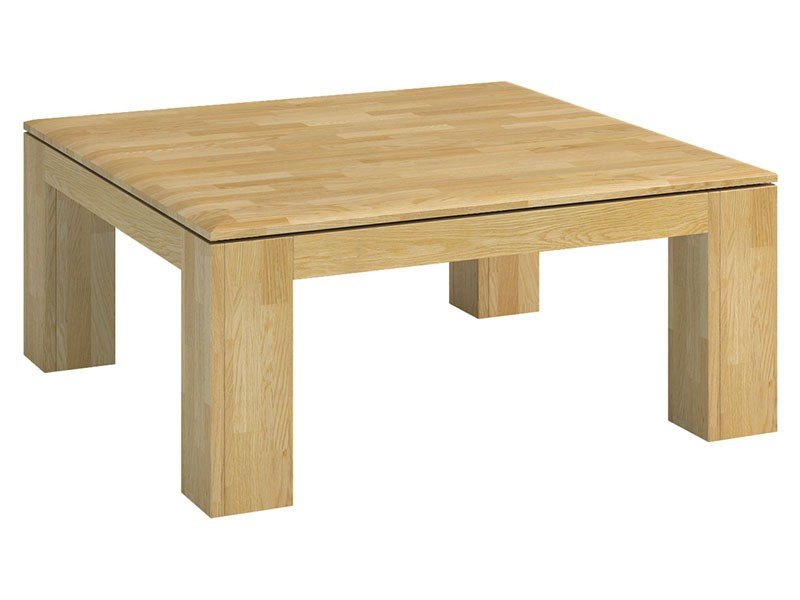 Mebin Rossano Square Coffee Table Oak Bianco - High-quality European furniture