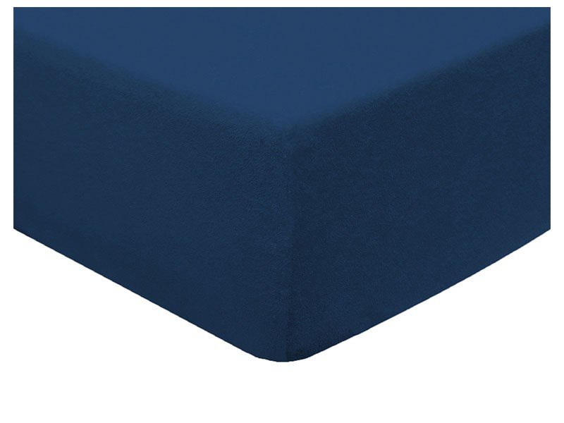 Darymex Terry Fitted Bed Sheet - Navy Blue - Europen made