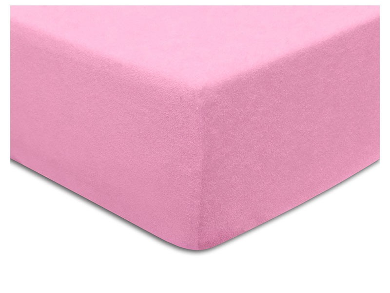 Darymex Terry Fitted Bed Sheet - Pink - Europen made