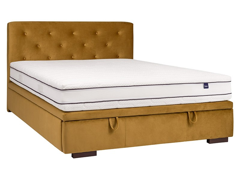 Masket Storage Bed Milos Slim - Upholstered bed with storage