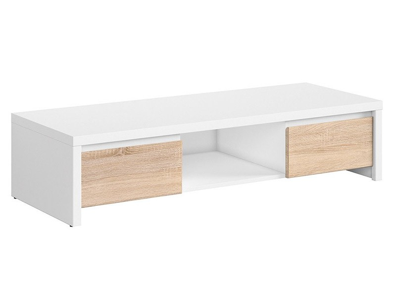 Kaspian White + Oak Sonoma Tv Stand - Contemporary furniture collection