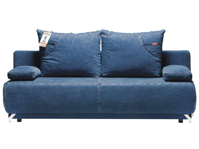 Libro Sofa Bed Denim 3FBA - Sofa bed with storage