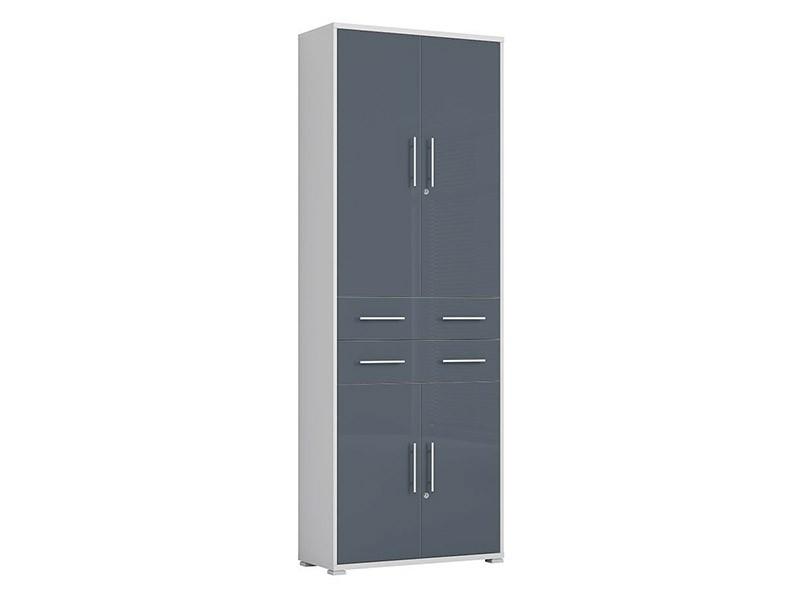 Office Lux 2 Door 2 Drawer Storage Cabinet - Modern office collection