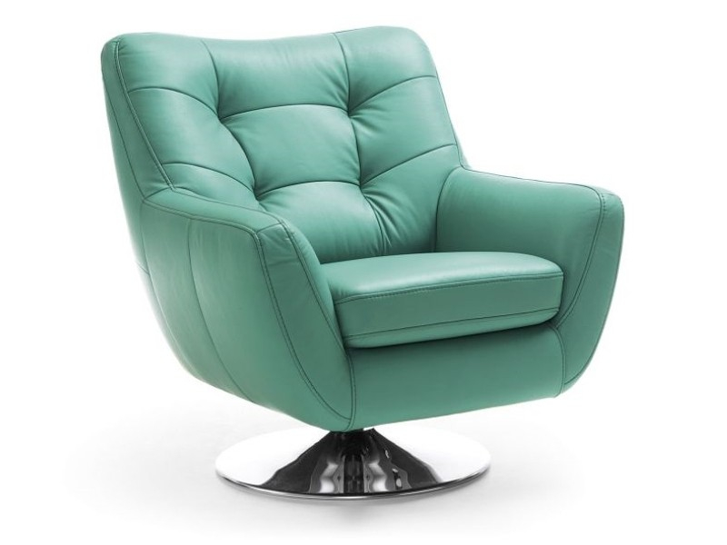 Gala Collezione Armchair Boss With Chrome Base - Stylish swivel chair