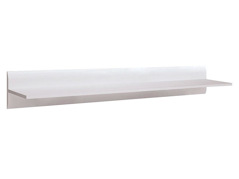 Azteca Trio Hanging Shelf 150cm - High gloss white floating shelf