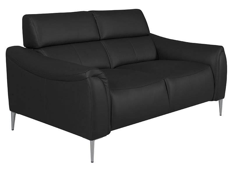 Des Loveseat Milano - Dollaro Nero - Full grain leather sofa
