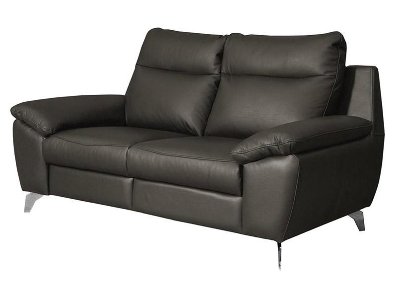 Des Loveseat Perle - Dollaro Anthracite - Full grain leather sofa