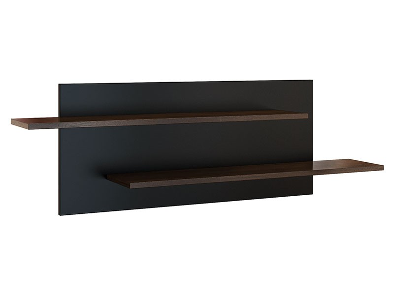 Mebin Rossano Medium Hanging Shelf Oak Notte - High-quality European furniture