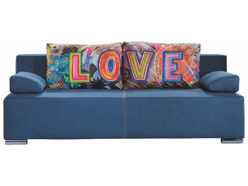 Libro Sofa Play Lux Love 3FBA - Sofa with bed and storage