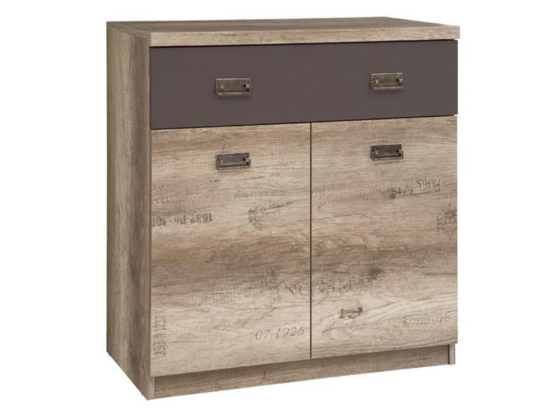 Malcolm 2 Door 1 Drawer Storage Cabinet - Youth collection