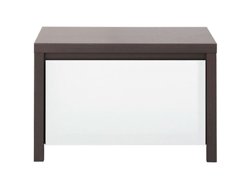 Kaspian Wenge + Glossy White Nightstand - Contemporary furniture collection