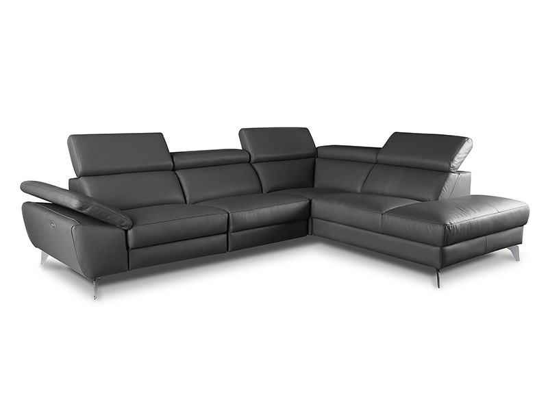 Des Sectional Panama - Dollaro Anthracite - Sofa with power recliner