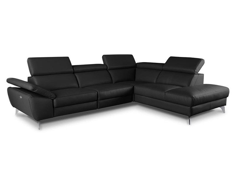 Des Sectional Panama - Dollaro Nero - Sofa with power recliner