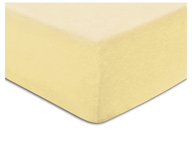 Darymex Terry Fitted Bed Sheet - Cream - Europen made