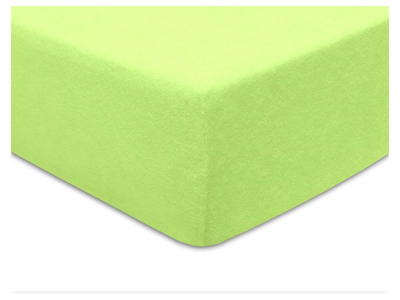 Darymex Terry Fitted Bed Sheet - Light Green - Europen made