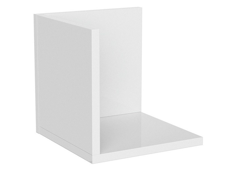 Princeton Hanging Shelf S Glossy White - Modern youth furniture
