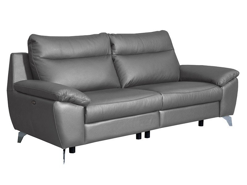 Des Sofa Perle 2,5TVE - Dollaro Steel - Double power recliner
