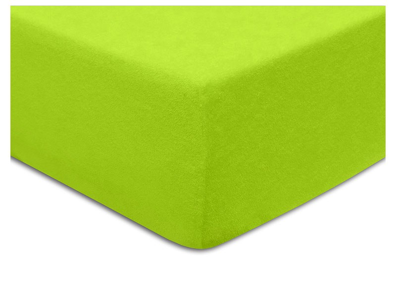 Darymex Terry Fitted Bed Sheet -  Lime - Europen made