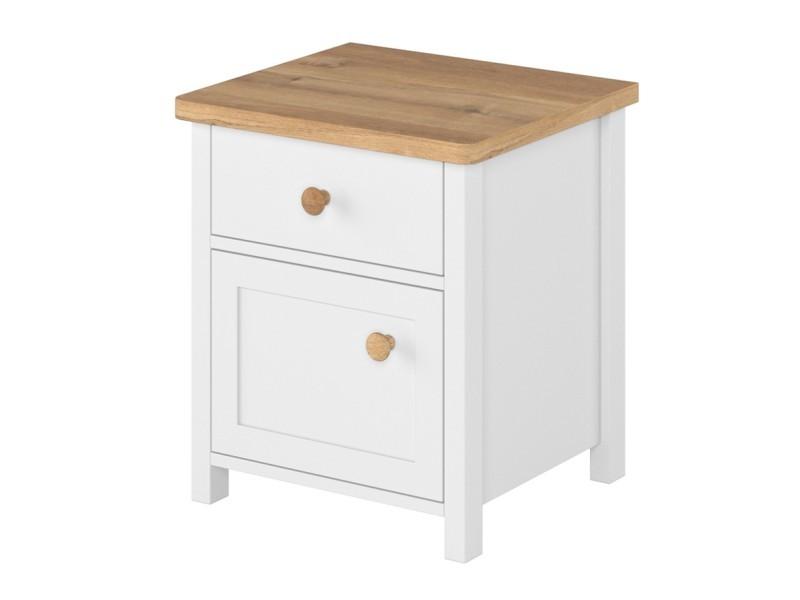 Lenart Nightstand Story SO-07 - 1-door, 1-drawer night table