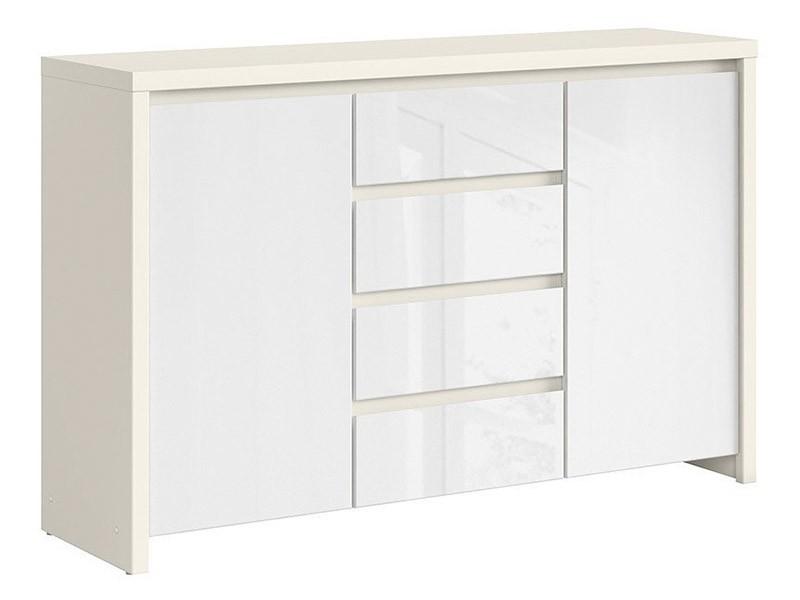 Kaspian White Matte + Glossy Dresser - Versatile storage solution