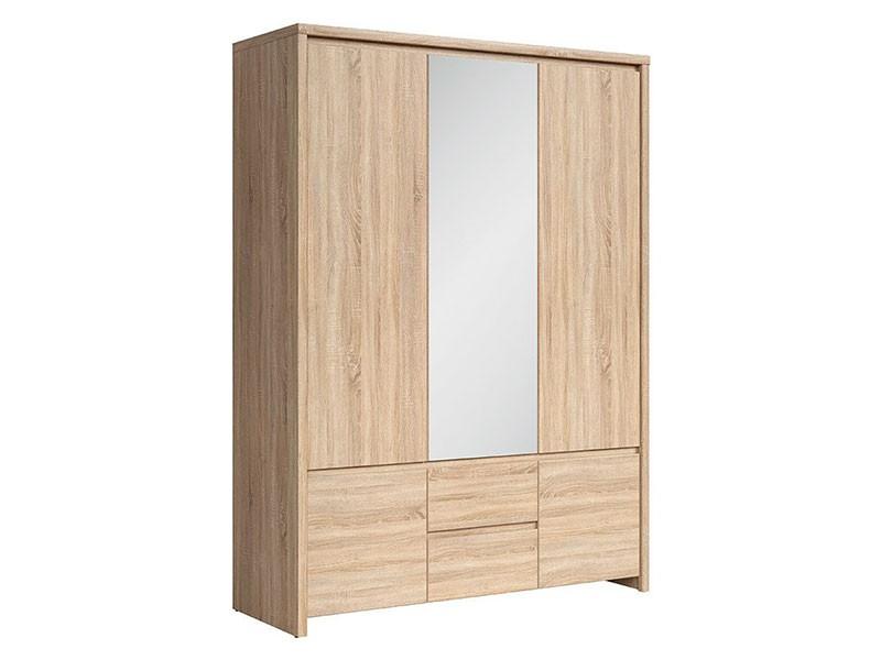 Kaspian Oak Sonoma 5 Door Wardrobe - Contemporary furniture collection