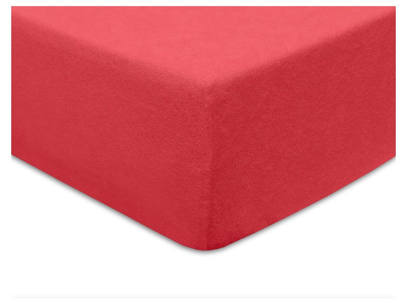 Darymex Terry Fitted Bed Sheet - Coral - Europen made