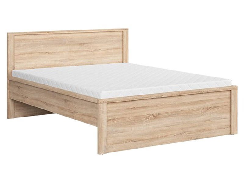 Kaspian Oak Sonoma Queen Bed II - Contemporary furniture collection