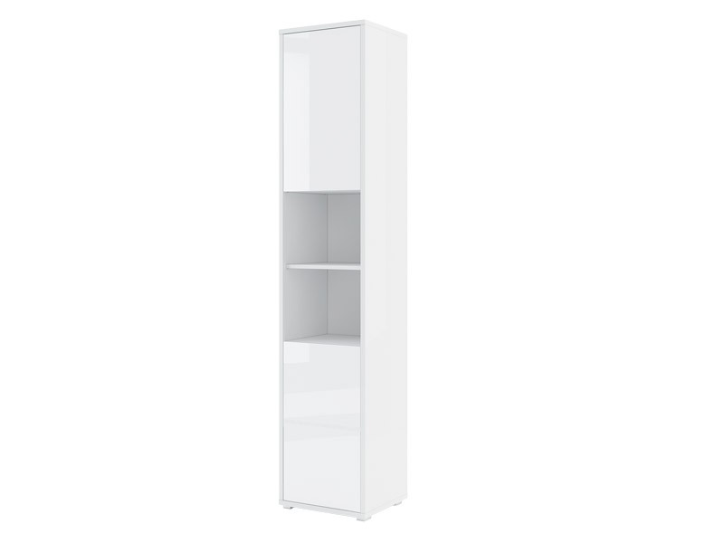 Bed Concept Storage Cabinet BC-08p - Glossy white narrow cabinet