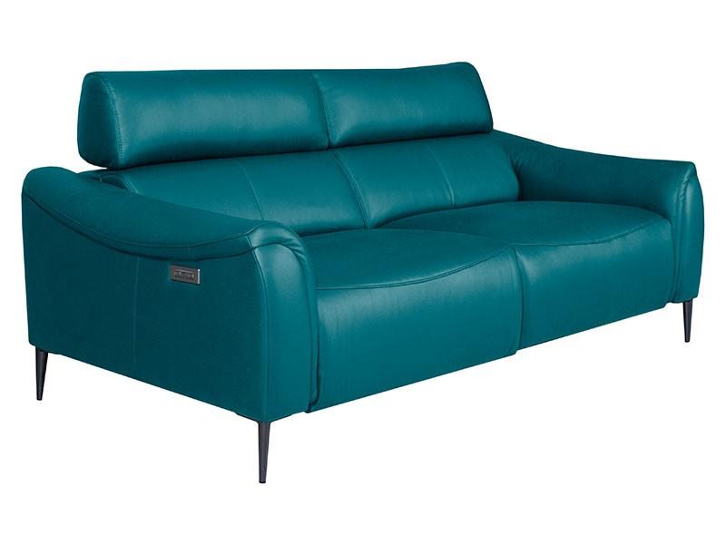 Des Sofa Milano 3TVE - Dollaro Turquoise - Double power recliner