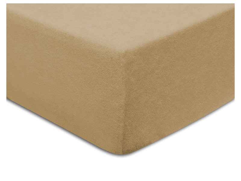 Darymex Terry Fitted Bed Sheet - Light Brown - Europen made