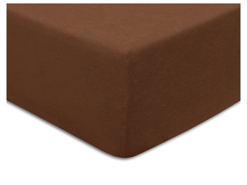 Darymex Terry Fitted Bed Sheet - Chocolate - Europen made