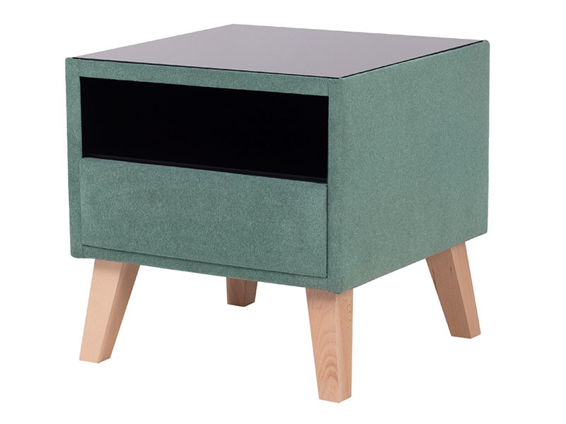 Hauss Nightstand Stella - Upholstered bedside table